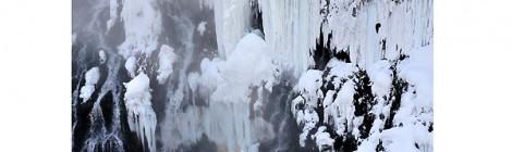 厳冬の白ひげの滝