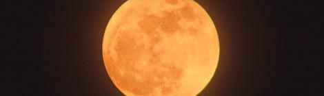 満月を2400㎜超望遠レンズで撮影