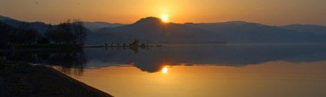 洞爺湖 日出